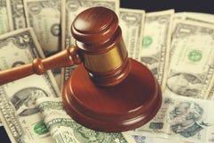 Judge with money stock photos