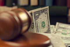 Judge with money and book royalty free stock photography