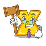 Judge multiply sign icon isolated on mascot. Vector illustration royalty free illustration