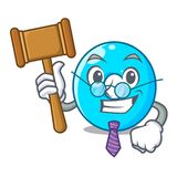 Judge number zero isolated on the mascot vector illustration