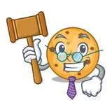 Judge oat cookie isolated with the cartoon. Vector illustration stock illustration