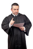 Judge reading the sentence royalty free stock image