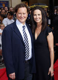 Judge Reinhold and Amy Reinhold Stock Image
