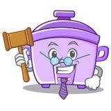 Judge rice cooker character cartoon Stock Photos