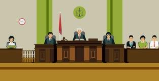 Judge Room royalty free illustration