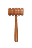 Judge's gavel. Judge's courtroom gavel isolated over a white background with clipping path Stock Photography
