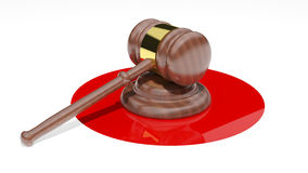 Judges Gavel Royalty Free Stock Photography