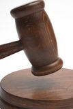 Judge's gavel. Close up over white Royalty Free Stock Photography
