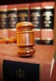 Judge's gavel. Gavel on set of law books Stock Photo