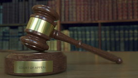Judge`s gavel and block with COURT OF APPEAL   inscription. 3D rendering Royalty Free Stock Photography