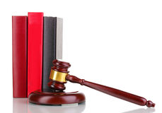 Judge's gavel and books Stock Photography