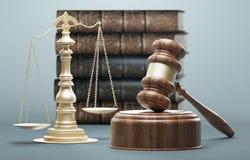 Judge`s gavel, concept of law and justice, 3d render illustration vector illustration