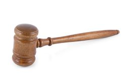 Judge's gavel isolated Royalty Free Stock Photography
