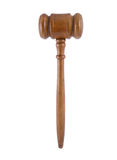 Judge's gavel isolated Royalty Free Stock Images