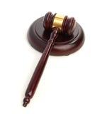 Judge's gavel isolated on white Stock Photography