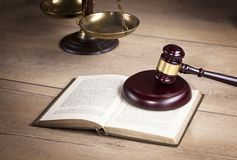 Judge`s gavel.Law. Judge`s office.Legal decision. royalty free stock photos
