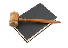 Judge's gavel legal book Royalty Free Stock Photos