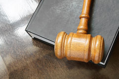 Judge's gavel and legal book Royalty Free Stock Image