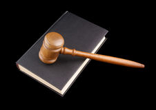 Judge's gavel legal book isolated Stock Images