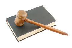 Judge's gavel legal book isolated Stock Image