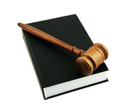 Judge's gavel legal book isolated Royalty Free Stock Photos