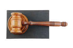 Judge's gavel legal book Royalty Free Stock Image
