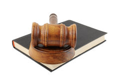 Judge's gavel legal book Stock Image