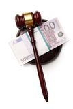 Judge's gavel and money Royalty Free Stock Images
