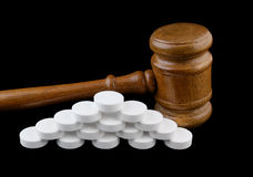 Judge's gavel and tablets Stock Photography