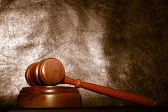 Judge's law gavel Stock Photos