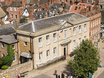 Judge's lodgings. Outside the norman castle built at Lincoln by William after he conquered England in 1066) used in conjuction with the court inside the castle Stock Photo