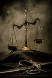 Judge's mantle still-life Royalty Free Stock Photos