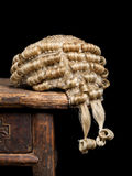 Judge's wig closeup Royalty Free Stock Photo