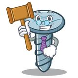Judge screw character cartoon style. Vector illustration Royalty Free Stock Photography