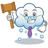 Judge snow cloud character cartoon Royalty Free Stock Photo