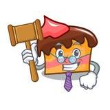 Judge sponge cake mascot cartoon. Vector illustration Stock Photo