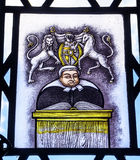 Judge Stained Glass Law Library Yale University New Haven Connecticut Royalty Free Stock Image