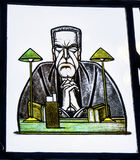 Judge Stained Glass Law Library Yale University New Haven Connecticut Royalty Free Stock Images