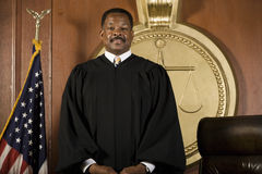 Judge Standing In Courtroom Stock Images