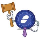 Judge Status coin mascot cartoon. Vector illustration Stock Photos