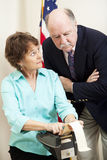 Judge with Stenographer Stock Photography