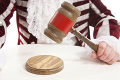 Judge using the gavel Royalty Free Stock Photo