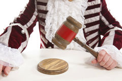Judge using the gavel Stock Photography
