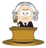 Judge using his gavel Royalty Free Stock Photos