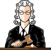 Judge vector persona. Illustration clip-art Stock Photography