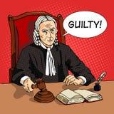 Judge verdict comic book vector Stock Image