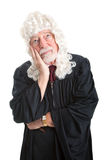 Judge in Wig - Bored Stock Image