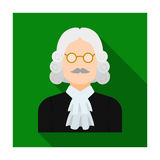 A judge in a wig  Stock Photography