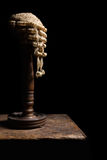 Judge wig on stand Royalty Free Stock Photo
