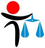 Judgement. Isolated line art logo design Stock Photos